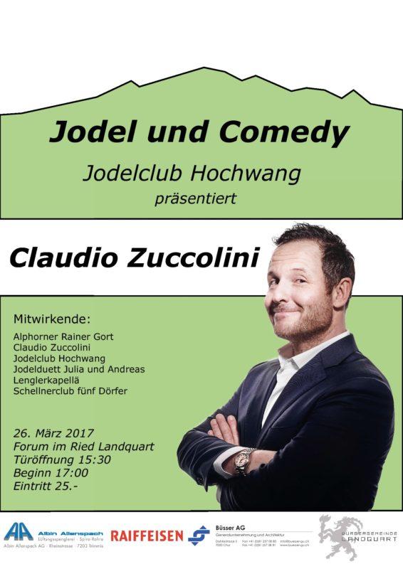 Jodel & Comedy mit Claudio Zuccolini